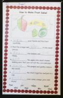 Aut 1: Instructions for preparing own fruit salad ('Pirates' topic).