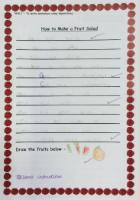 Aut 1: Writing instructions. How to make a fruit salad.