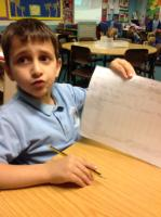 Aut 1: Pupil was excited to discuss his knowledge of  Iraq and being a Muslim. He created special sentences and a picture.