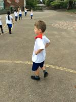Aut 1 Balancing bean bag whilst walking.