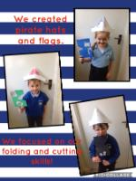 Aut 1: Creating pirate flags and hats.