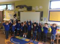 "Aut 1: Walking number line to 10, ""as we walked along it we said the numbers""."