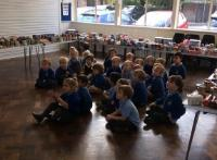 Aut 1: We went to the school hall to see all the wonderful food that the children brought in for 'Harvest Festival'.