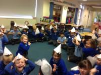 Aut 1: Creating 'Pirate' hats using folds.