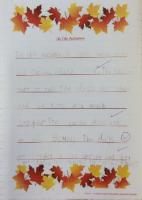 Aut 1: Observe and write about seasonal changes. (1)