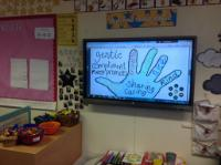 Aut 2: Anti-Bullying Week. Created 'good friend hands' following class discussion on what makes a good friend.