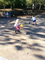 Aut 1: Developing ball skills, bouncing and catching.