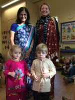 Aut 2: Dressing up to celebrate 'Diwali' (Hindu Festival of Light).