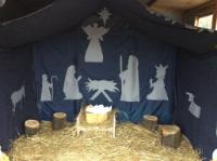 Aut 2: Outdoor roleplay shed - 'The Nativity'.