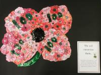 Aut 2: Year 1 created a poppy to commemorate 100 years since the end of World War I and thought about whay we wear poppies and the significance of them.