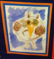 Aut 2: Developing drawing skills using watercolour crayons to create an owl picture.