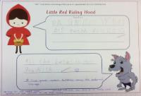 Aut 2: To use phonics and knowledge of the story to write speech bubbles from 'Little Red Riding Hood'.