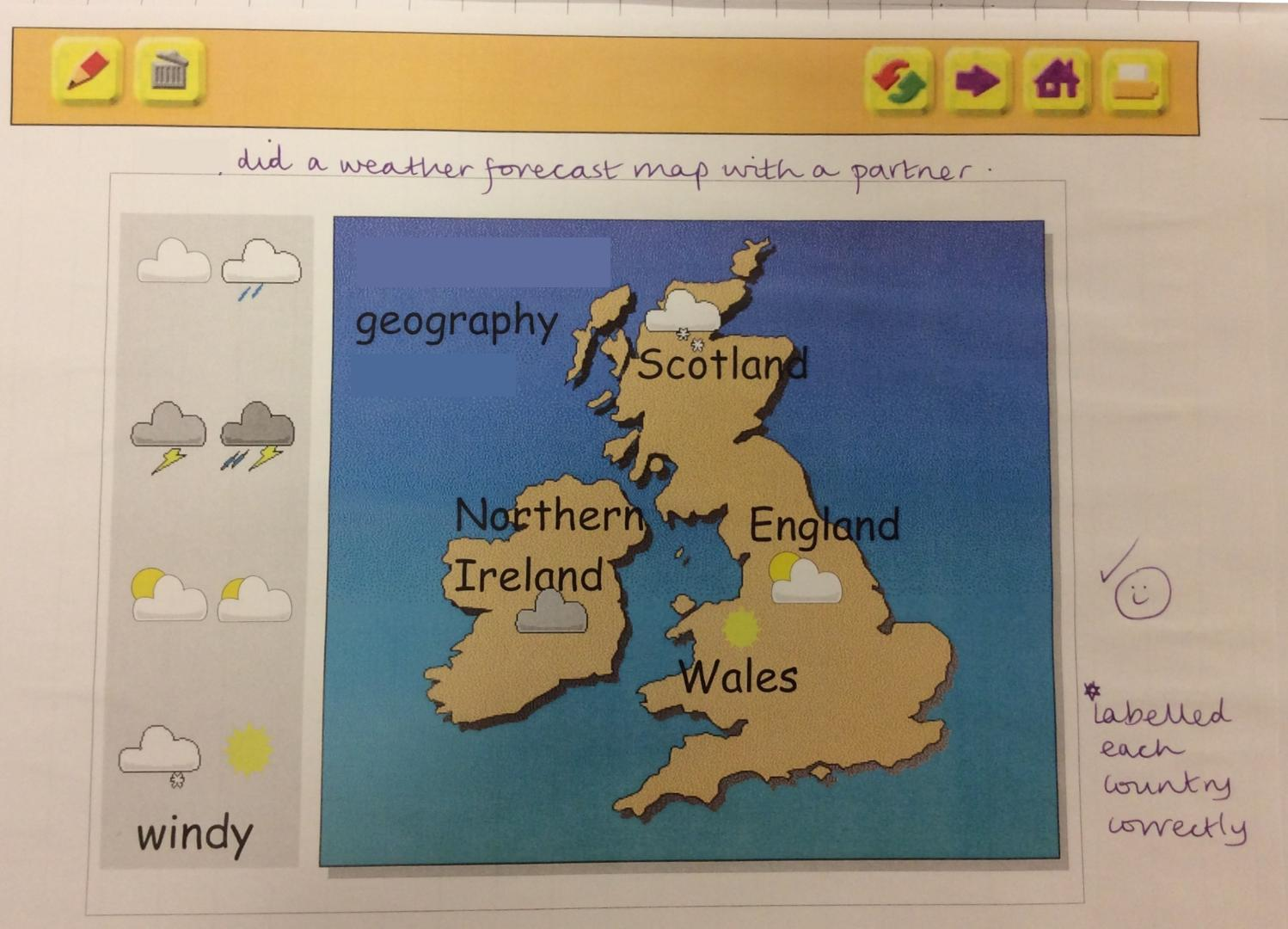The cobbs infant and nursery school year 1 aut 2 use my world to label countries and create a weather forecast for great britain gumiabroncs Gallery