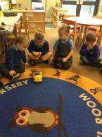 Spr 1: Exploring different moving toys and working on key vocabulary like turn, push, pull, lift, press, button and remote control.