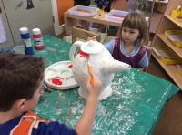 Spr 1: Painting our 'Mad Hatter's' teapot and spoon. (2)
