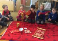 Spr 1: We looked at artefacts linked to Chinese New Year.