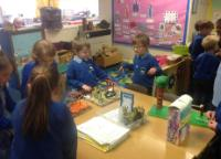 Sum 1: Home Learning Project - creating playgrounds, children showed each other their models and were very excited to share ideas.