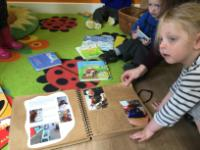 Sum 1: Sharing our 'Places Teddy has Visited' book.