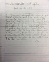 Sum 1: Write extended sentences with adjectives about 'Jonah and the Whale'.