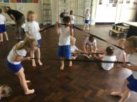 Sum 2 'Creative Steps' dance session using elastic bands. (2)