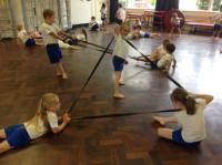 Sum 2 'Creative Steps' dance session using elastic bands.