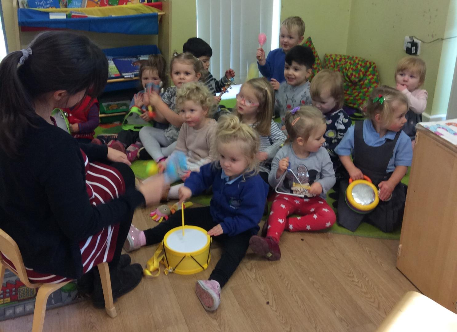 A Typical Day in Cygnets - Whole Group Activity (Musical Instruments)