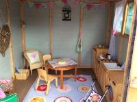 55 Nursery (3 and 4 year old outdoor provision) - our roleplay shed.